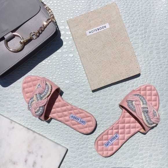 Shoes - 🆕Myra Blush Pink Vegan Pearl Slides Mules